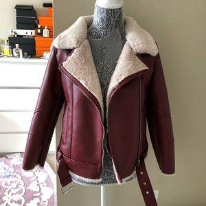 ZaraKids faux leather bikerJacket size11-12 as new